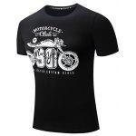 FREDD MARSHALL Printed Motorcycle T Shirts - BLACK