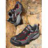 BAIDENG Outdoor Men Breathable Mesh Trekking Shoes - RED