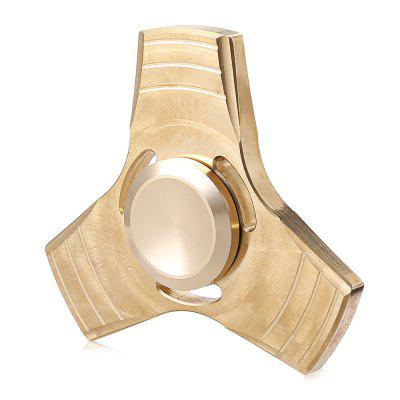 Brass Tri Fidget Spinner EDC Stress Relievers Toy