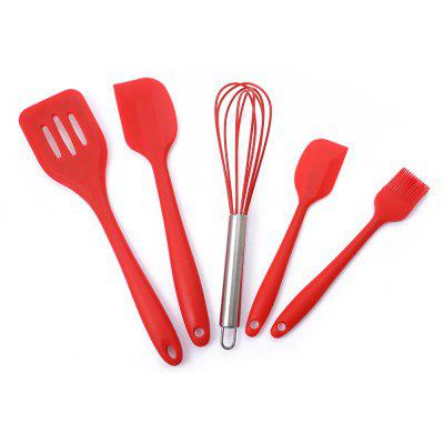5PCS Silicone Kitchen Non-stick Utensil
