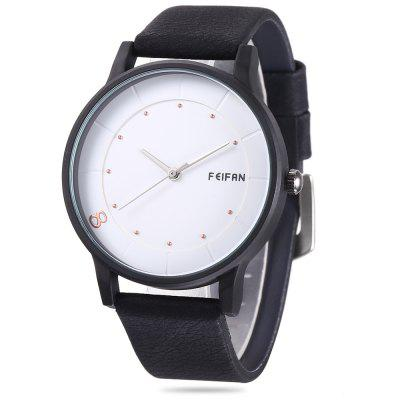 FEIFAN 62096G Male Leather Band Quartz Watch