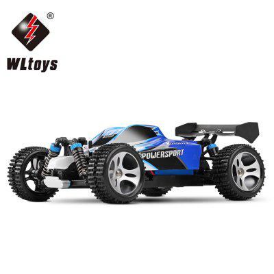 Gearbest WLtoys A959 1 / 18 Scale 2.4G RC OFF - Road Racing Car with Anti - vibration System - US Plug - EU PLUG BLUE