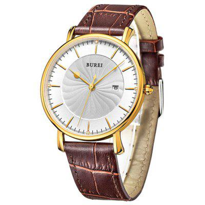 BUREI Simple Fashion Ultra-thin Dial Men Quartz Watch