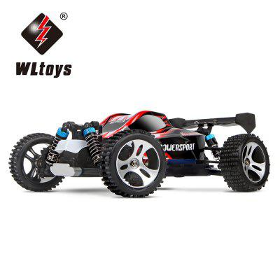 WLtoys A959 1 / 18 Scale 2.4G RC OFF  -  Road Racing Car with Anti  -  vibration System - US Plug