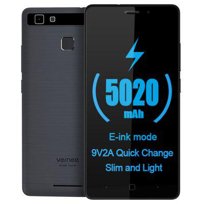 Vente flash-Vernee Thor E 4G Smartphone  -  GRAY-Android 7.0 5020mAh Battery E-ink Mode