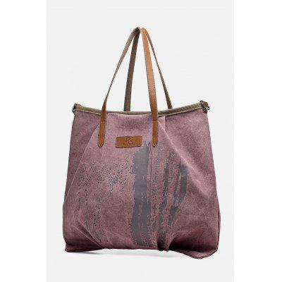 Ink Splatter Canvas Shoulder Bag