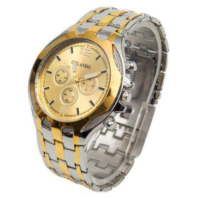 Orlando 425 Male Quartz Watch Decorative Sub - dials Alloy Band Analog Round Dial