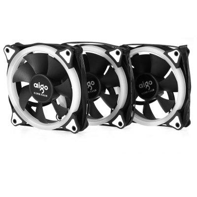 Aigo 3PCS Adjustable Color LED Fan for Computer