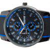 Cool Men Wrist Watch Analog with Round Dial Rubber Watch Band - BLUE