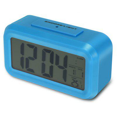 Intelligent Digital Alarm Clock Controllable Backlight Snooze Function LCD Display