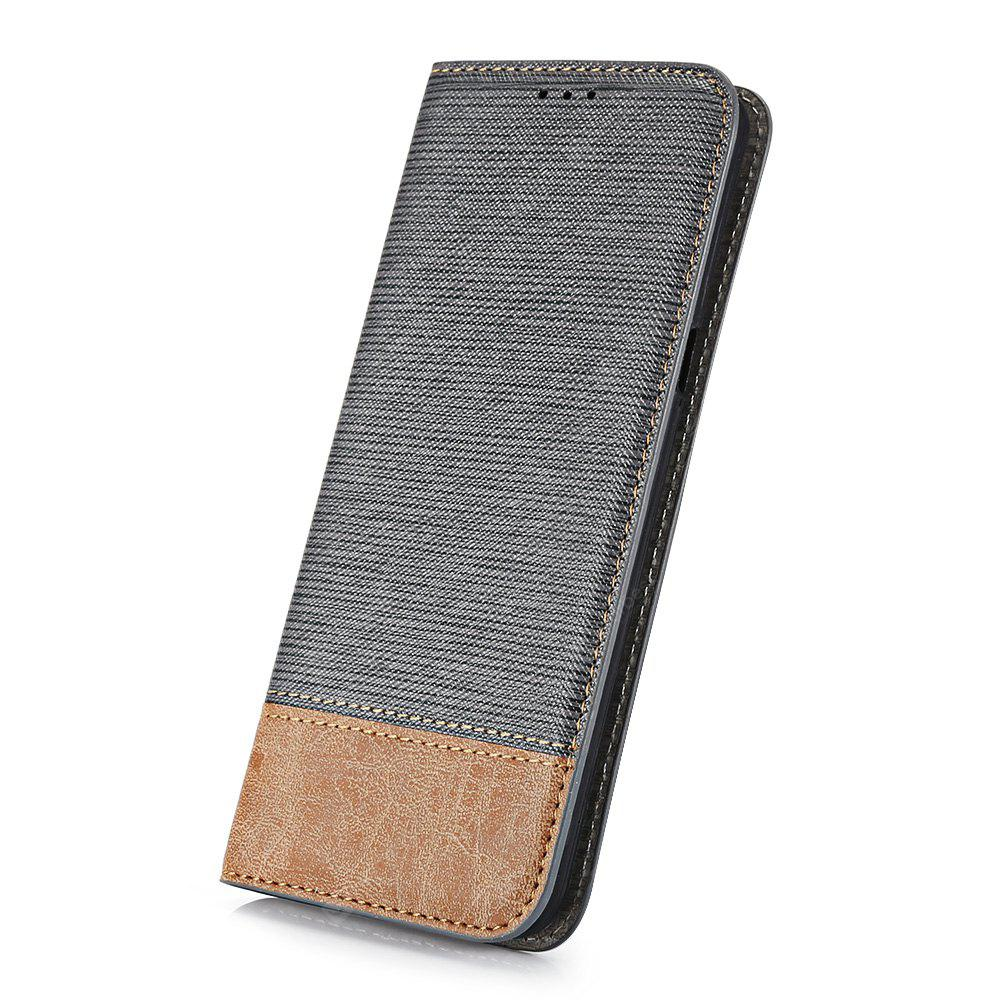 Wallet Case Contrast Color Phone Cover Protector for Samsung Galaxy S8 Card Slot Bracket Holder