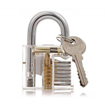 HakkaDeal Transparent Practice Padlock Training Tools Set