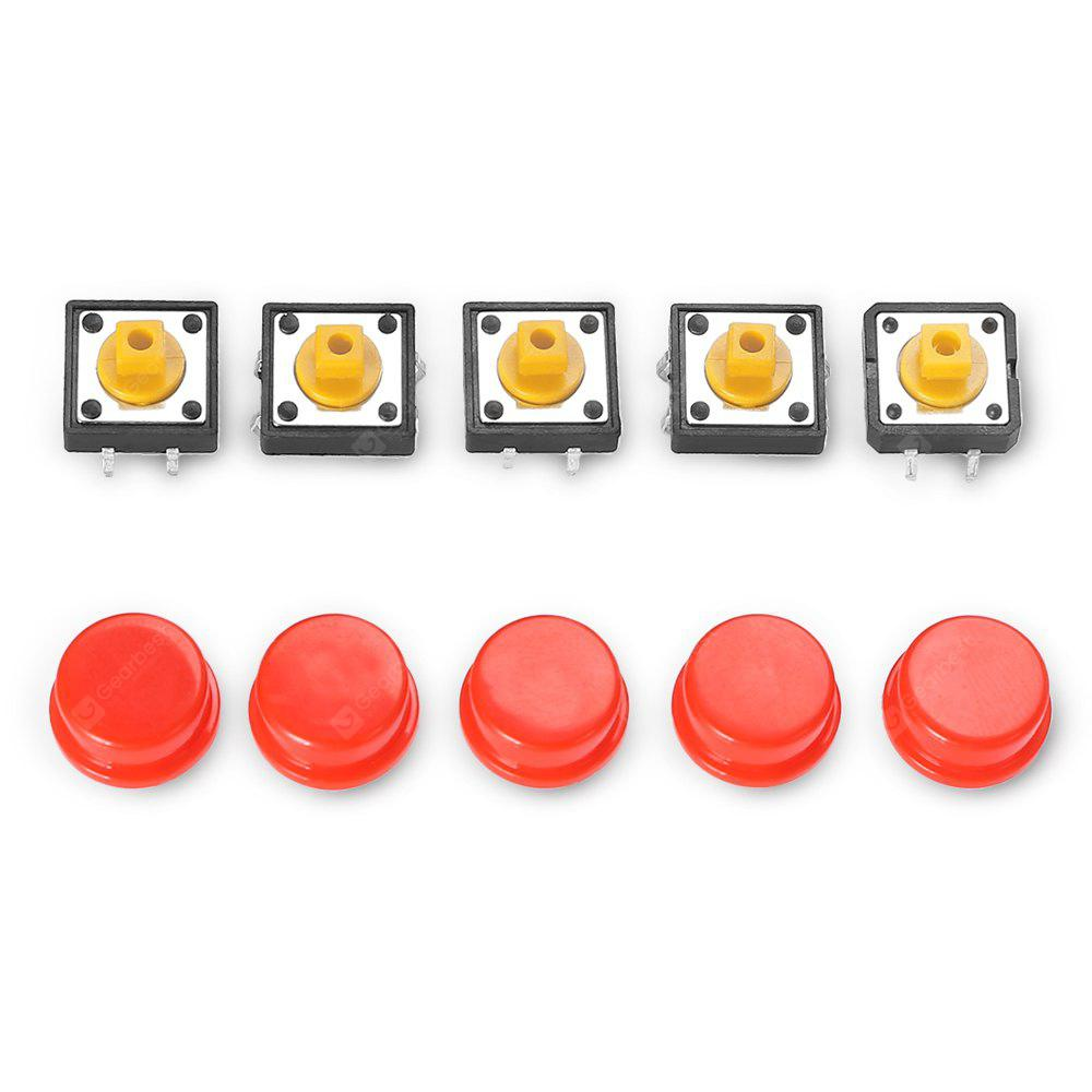 LDTR - YJ030 5PCS Push Button Switches RED