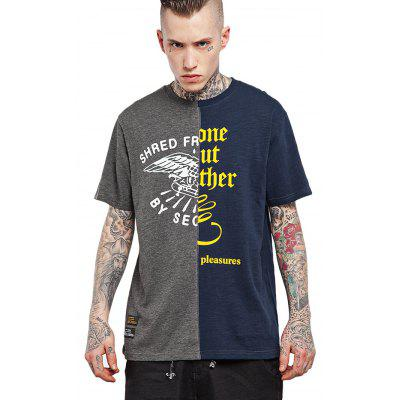 Gothic Letter Splicing Cool T Shirt Designs