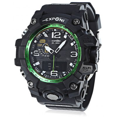 EXPONI 3239 Dual Movement Digital Quartz Watch