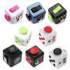 PIECE FUN ABS Stress Reliever Fidget Cube for Worker - BLACK AND RED