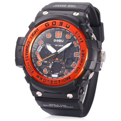 GOBU 1619 Men LED Quartz Digital Sports Watch