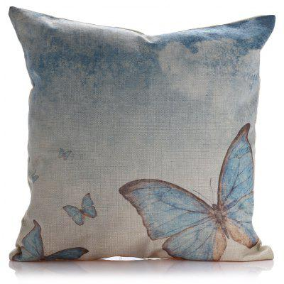 Butterfly Square Throw Pillow Case