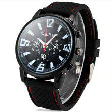 Weijieer 578 Male Quartz Watch mit rundem Zifferblatt Stereo Ditigal Rubber Watch Band