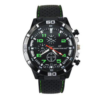 Fashion Sports Watch Analog with Round Dial Rubber Watch Band miracle moment fashion stylelish mens womens unique hollowed out triangular dial black fashion watch ag3