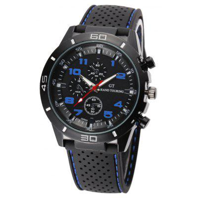 Buy DEEP BLUE Fashion Sports Watch Analog with Round Dial Rubber Watch Band for $4.97 in GearBest store
