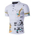 WHATLEES Watercolor T Shirt - WHITE