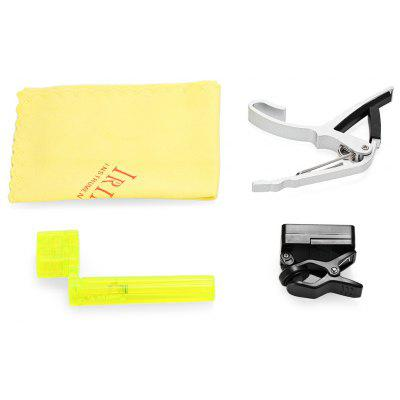 4 in 1 Tuner Capo String Winder Polish Cloth Violin Kit