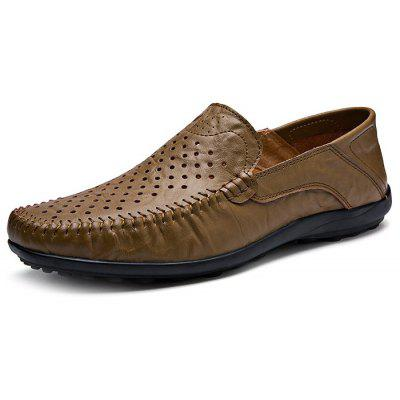 Genuine Leather Air Hole Men Loafers