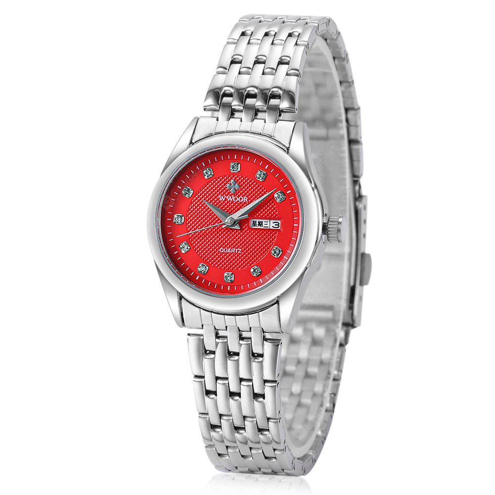 WWOOR 8824 Alloy Strap Roman Nail Watch