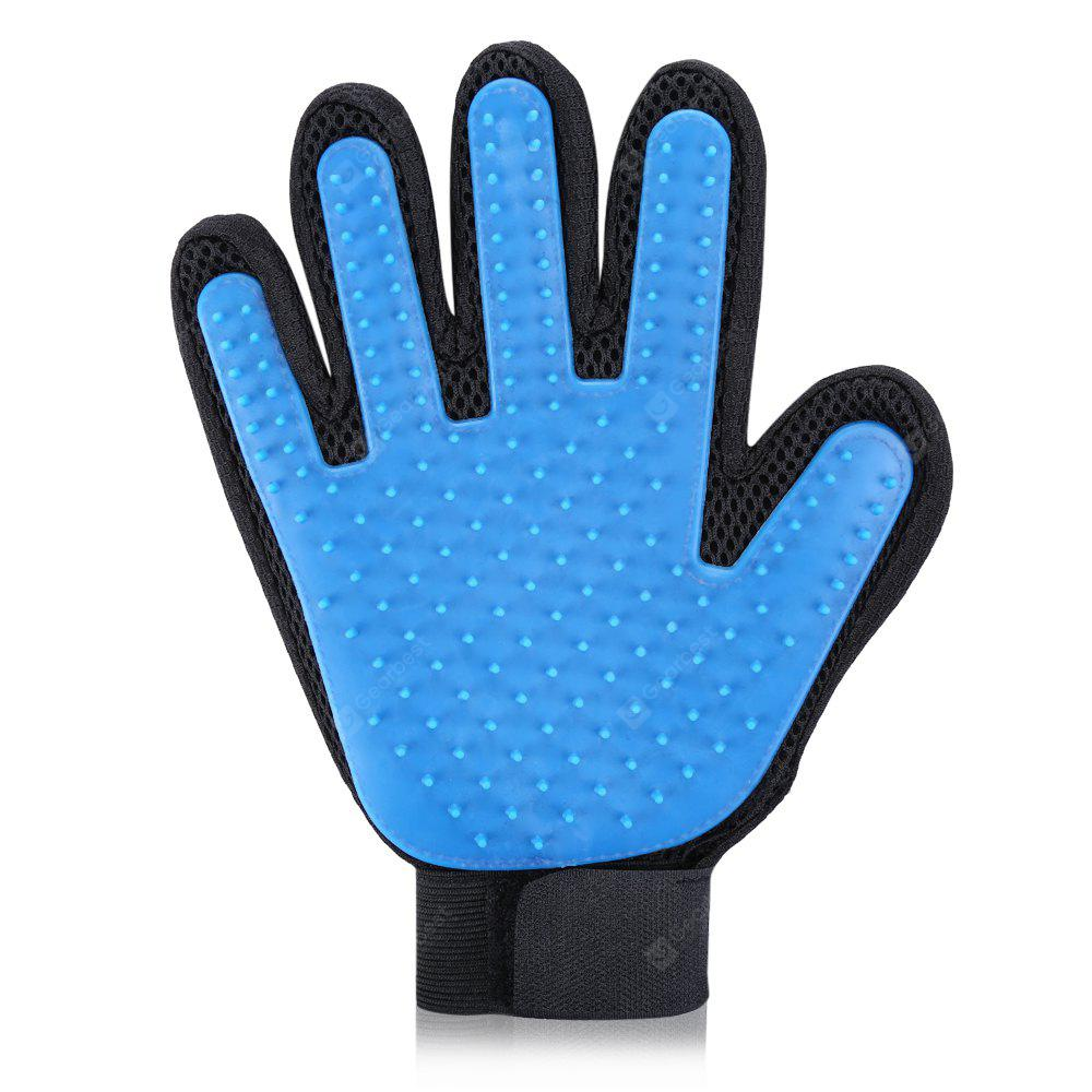 Petonaut Pet Care Grooming Glove Brush - BLUE