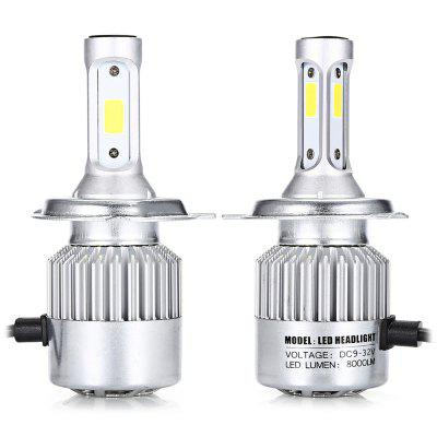 H4 2PCS Car COB LED Headlight