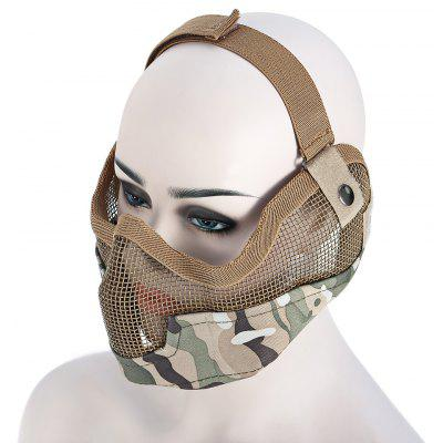 Protective Steel Mesh Half-face Mask Guard for Survival Games