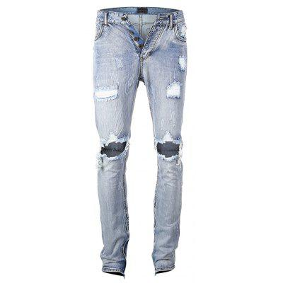 Blue Washed Skinny Blue Washed Distressed Distressed Skinny Washed Blue Jeans Jeans Distressed Skinny OHqwFdx