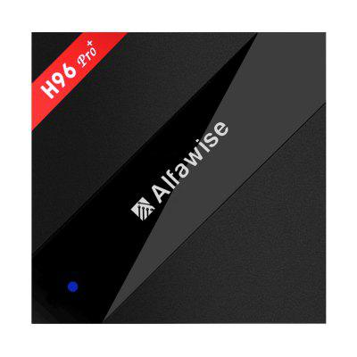 Alfawise H96 Pro+ TV BoxTV Box<br>Alfawise H96 Pro+ TV Box<br><br>5G WiFi: Yes<br>Audio format: MP3, WMA, WAV, OGG, AC3, AAC<br>Bluetooth: Support<br>Brand: Alfawise<br>Color: Black<br>Core: Octa Core, 2.0GHz<br>CPU: Amlogic S912<br>Decoder Format: H.263, H.264, H.265<br>External Subtitle Supported: No<br>GPU: ARM Mali-T820MP3<br>HDMI Version: 2.0<br>Interface: TF card, SPDIF, AV, USB2.0, HDMI, Ethernet, DC Power Port<br>Language: Multi-language<br>Maximum External Hard Drives Capacity: 2TB<br>Model: H96 Pro+<br>Other Functions: 3D Video<br>Package Contents: 1 x H96 Pro+ TV Box, 1 x Remote Control, 1 x HDMI Cable, 1 x Power Adapter, 1 x English Manual<br>Package size (L x W x H): 16.00 x 15.80 x 8.00 cm / 6.3 x 6.22 x 3.15 inches<br>Package weight: 0.5400 kg<br>Power Input Vol: 5V<br>Power Supply: Charge Adapter<br>Power Type: External Power Adapter Mode<br>Product size (L x W x H): 10.70 x 10.70 x 2.00 cm / 4.21 x 4.21 x 0.79 inches<br>Product weight: 0.2500 kg<br>RAM: 3G RAM<br>RAM Type: DDR3<br>ROM: 16G<br>Support 5.1 Surround Sound Output: Yes<br>System: Android 7.1<br>System Bit: 64Bit<br>Type: TV Box<br>Video format: MKV, ISO, FLV, DAT, ASF, MOV, AVI, MPG, RM, RMVB, TS, VOB, WMV, MPEG<br>WIFI: 802.11 a/b/g/n/ac