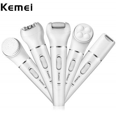 Kemei KM - 2199 Lady Facial Epilator Shaver Cleanser Massager Callus Remover
