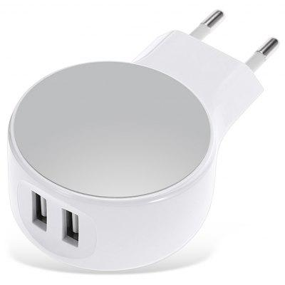 Dual USB Travel Power Adapter Wall Charger