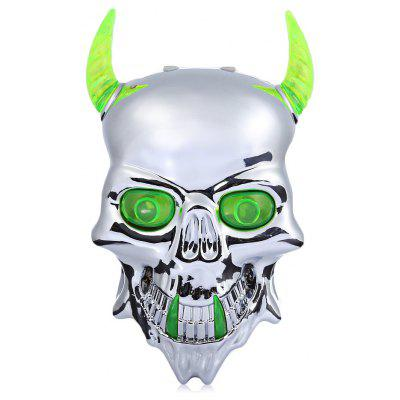 Skull-shaped Bicycle Tail Laser Light Bike Rear Safety Lamp