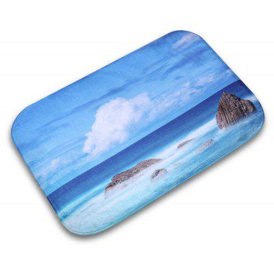 Sky Cloud Flannel Doormat Rug Mat