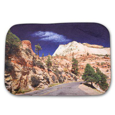 Mountain Printed Flannel Doormat Rug Mat