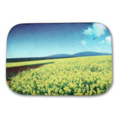 Rape Flower Flannel Doormat Rug Mat