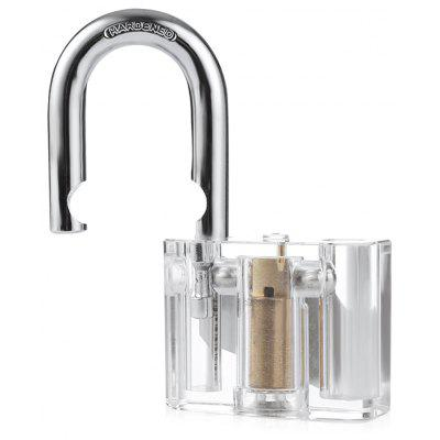 HakkaDeal Transparent Disc Type Padlock Practice Set