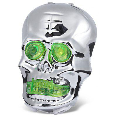 Skull-shaped Bike Tail Laser Light Bicycle Rear Safety Lamp