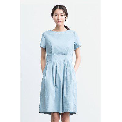 ZIMO Pure Color Waisted Dress