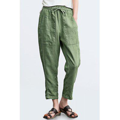 Pantalones ZIMO Big Pocket Mujer Casual con cintura ajustable