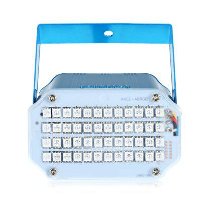 48 LED SMD 5050 Sound Activated Strobe LightStage Lighting<br>48 LED SMD 5050 Sound Activated Strobe Light<br><br>Battery Type: Others<br>Body Color: Black,Blue<br>Control Mode: Auto Mode, Voice-activated<br>Function: For party<br>Laser Color: RGB Light<br>Material: ABS<br>Output Power (W): 15W<br>Package Contents: 1 x LED PAR Light, 1 x Power Cable, 1 x English User Manual<br>Package size (L x W x H): 15.00 x 7.00 x 15.00 cm / 5.91 x 2.76 x 5.91 inches<br>Package weight: 0.2850 kg<br>Plug Type: US plug<br>Product Size(L x W x H): 9.50 x 11.00 x 6.00 cm / 3.74 x 4.33 x 2.36 inches<br>Product weight: 0.2500 kg<br>Shape: Module Shaped<br>Total Emitters: 48<br>Type: Par Light<br>Voltage Type: AV 90 - 240V