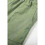 Pantaloni Casual Donna ZIMO Big Pocket con vita regolabile - VERDE DELL'ESERCITO
