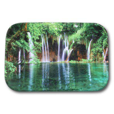 Waterfall Printed Flannel Doormat Rug Mat
