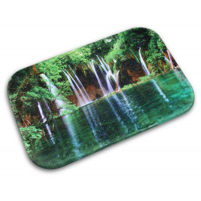 Waterfall Printed Non-slip Doormat Indoor Outdoor Bathroom Floor Rug Mat Flannel Carpet