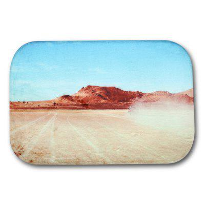 Mountain Sky Printed Flannel Doormat Rug Mat