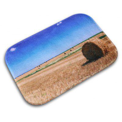 Wheat Printed Flannel Doormat Rug Mat